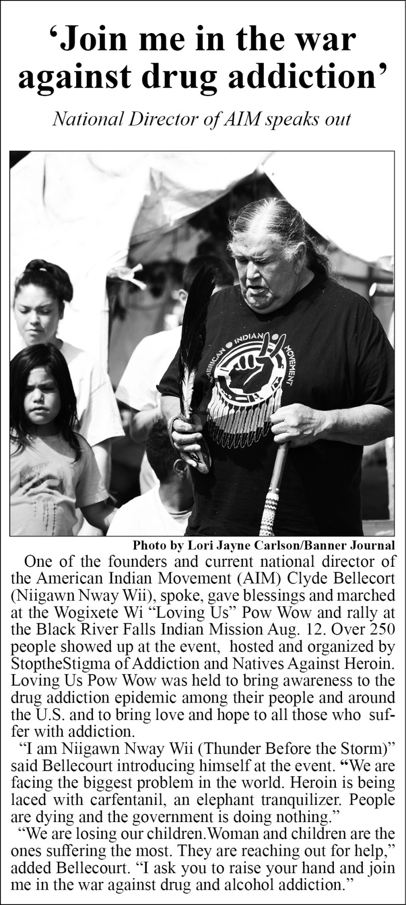 Clyde Bellecourt at Loving Us Pow Wow