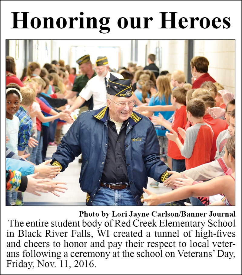 Wally Capper Veterans Day at Red Creek Elementary BRF